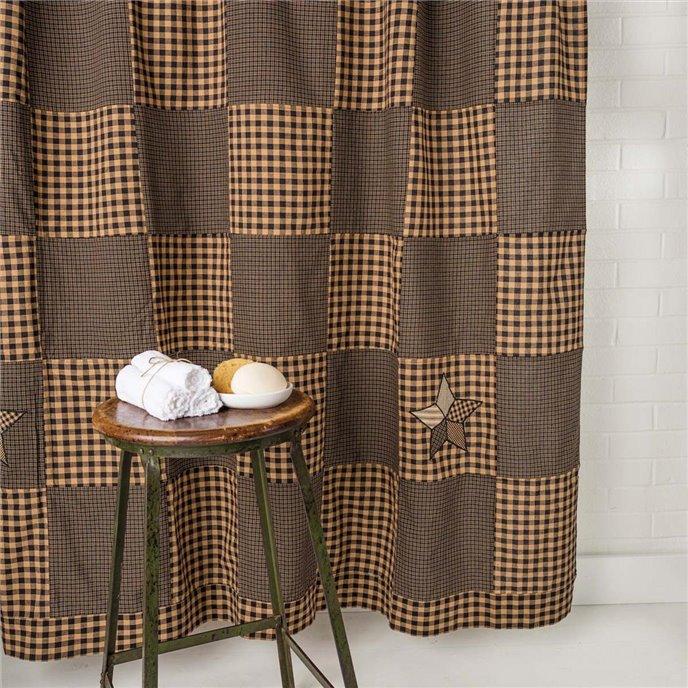 Farmhouse Star Shower Curtain 72x72 Thumbnail
