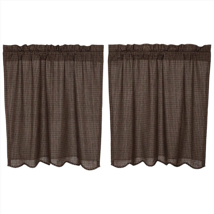 Kettle Grove Plaid Tier Scalloped Set of 2 L36xW36 Thumbnail