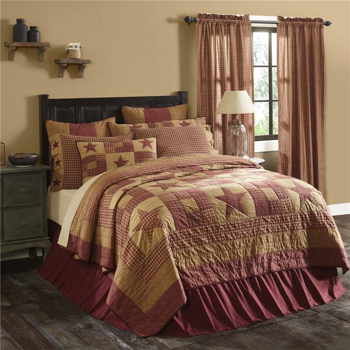 Ninepatch Star Luxury King Quilt 120Wx105L Thumbnail