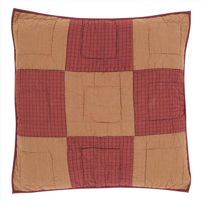 Ninepatch Star Quilted Euro Sham 26x26 Thumbnail