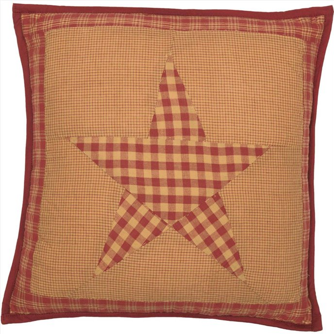 Ninepatch Star Quilted Pillow 16x16 Thumbnail