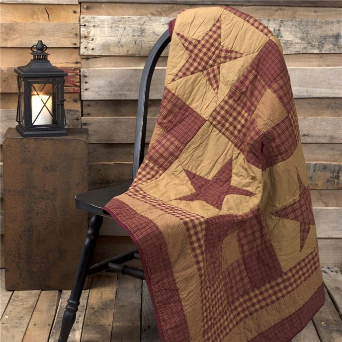 Ninepatch Star Quilted Throw 60x50 Thumbnail