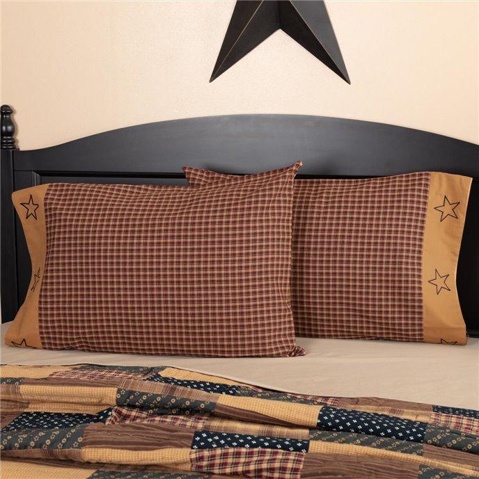 Patriotic Patch Standard Pillow Case Set of 2 21x30 Thumbnail