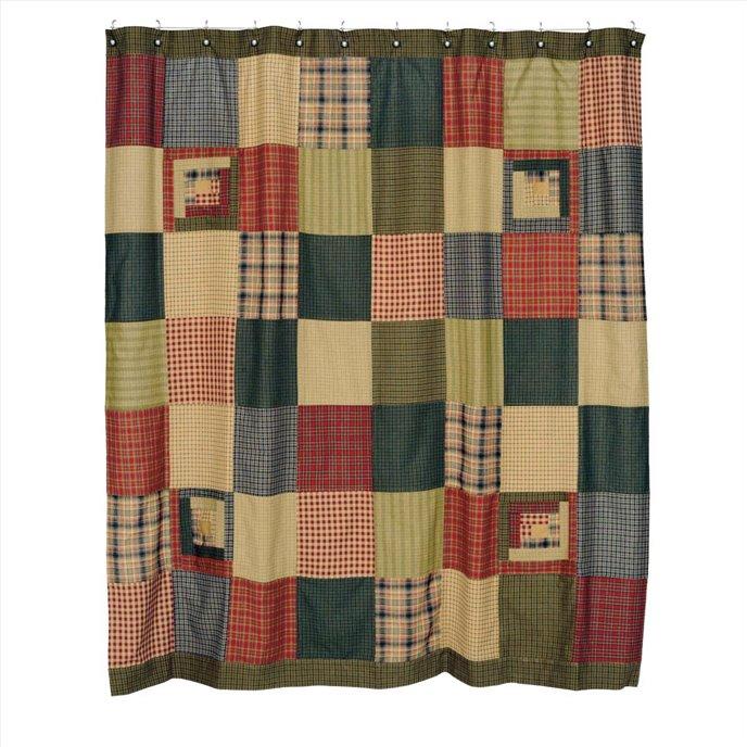 Tea Cabin Patchwork Shower Curtain Thumbnail