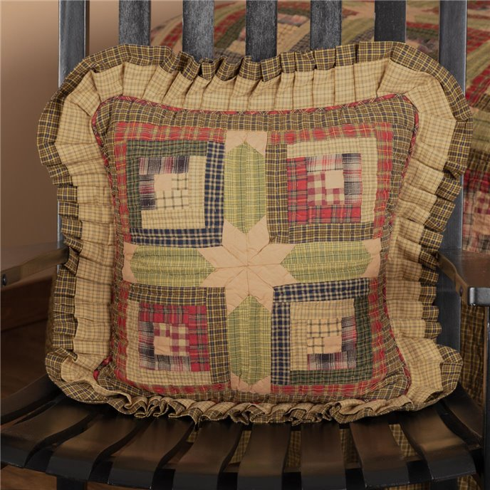 Tea Cabin Pillow Quilted 16x16 Thumbnail