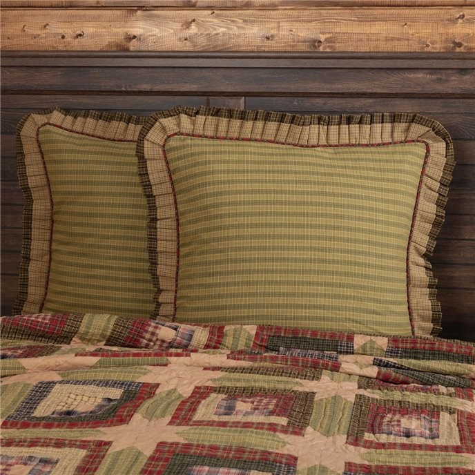 Tea Cabin Euro Sham Fabric Ruffled 26x26 Thumbnail