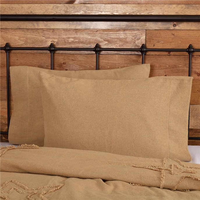 Burlap Natural Standard Pillow Case Set of 2 21x30 Thumbnail