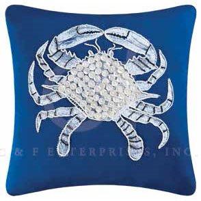Fair Winds Crab Pillow Thumbnail
