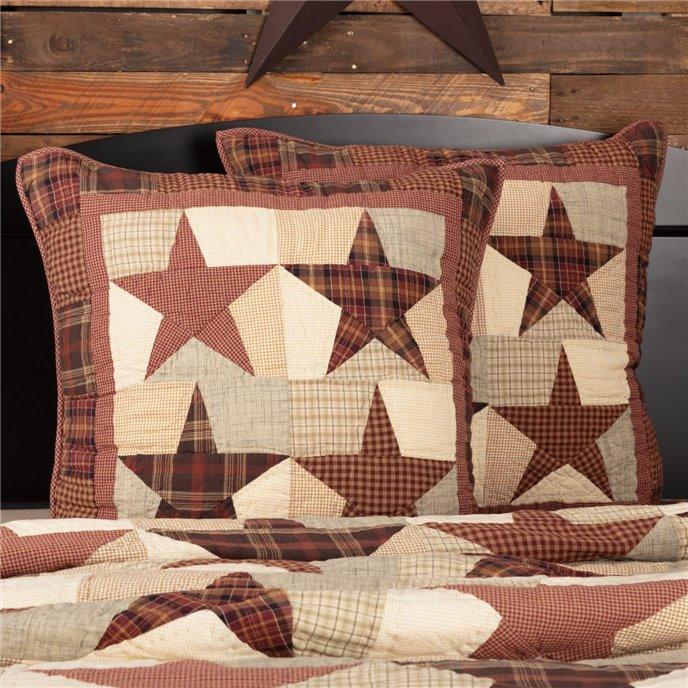 Abilene Star Quilted Euro Sham 26x26 Thumbnail