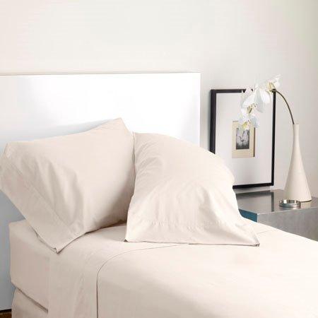 Modern Living Solid Color T300 King Cream Pillowcase Pair Thumbnail