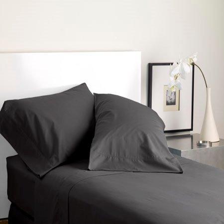 Modern Living Solid Color T300 King Graphite Pillowcase Pair Thumbnail