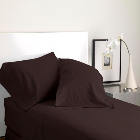 Modern Living Solid Color T300 Twin Java Sheet Set Thumbnail