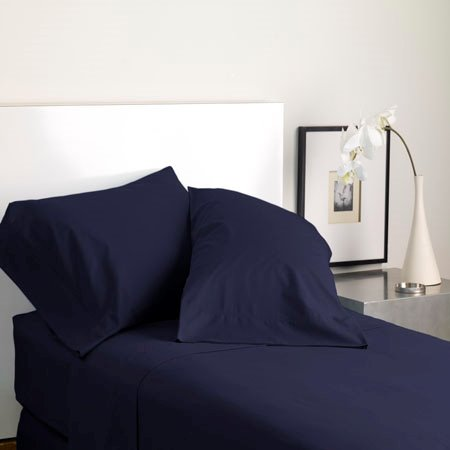 Modern Living Solid Color T300 Twin Shadow Blue Sheet Set Thumbnail