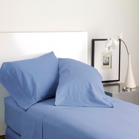 Modern Living Solid Color T300 Queen Shadow Blue Sheet Set Thumbnail