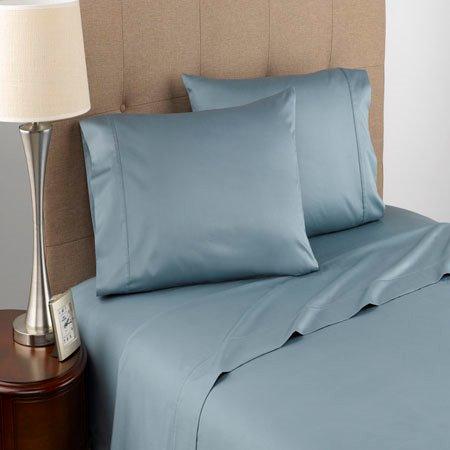 Modern Living T300 Certified Organic Cotton Queen Blue Mist Sheet Set Thumbnail