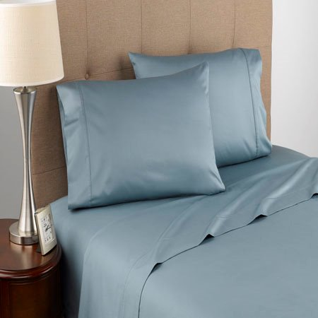 Modern Living T300 Certified Organic Cotton King Blue Mist Sheet Set Thumbnail