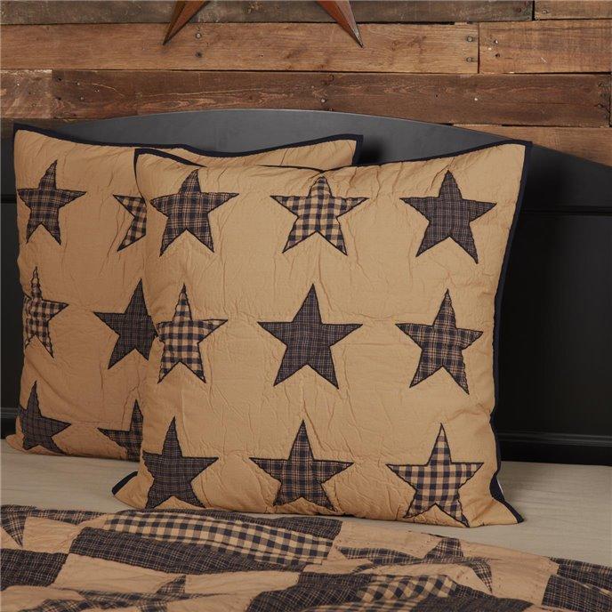 Teton Star Quilted Euro Sham 26x26 By Mayflower Market Vhc Brands