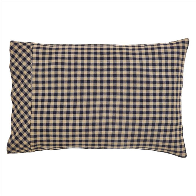 Navy Check Pillow Case Set of 2 Thumbnail