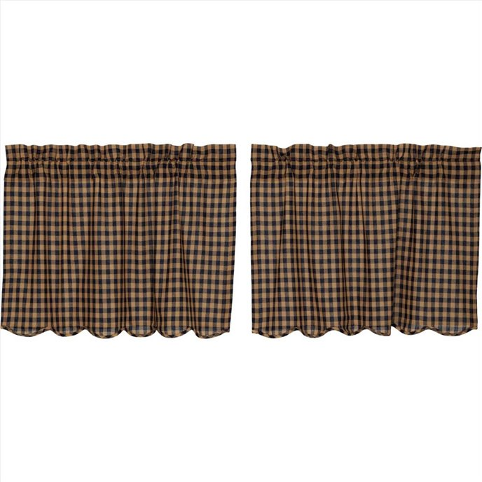 Navy Check Scalloped Tier Set of 2 24x36 Thumbnail