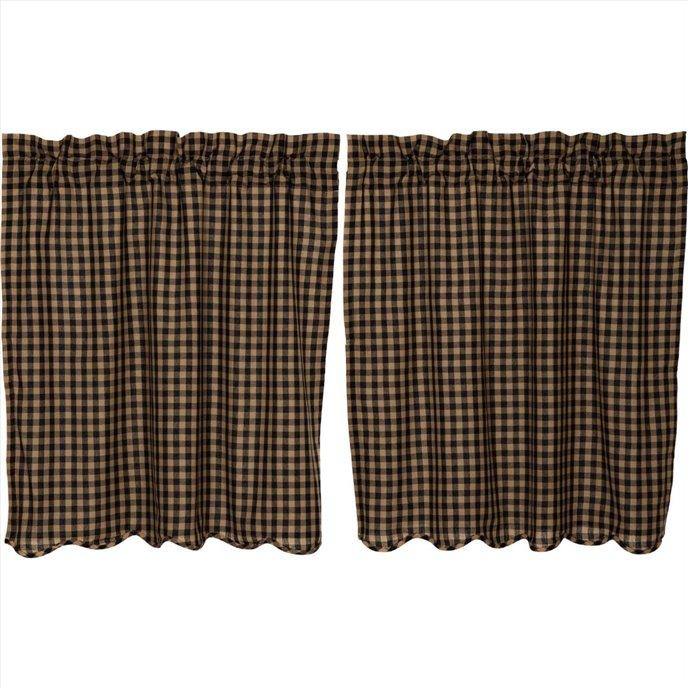 Black Check Scalloped Tier Set of 2 36x36 Thumbnail
