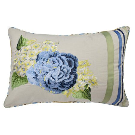 Floral Flourish 14x20 Embroidered Decorative Pillow Thumbnail