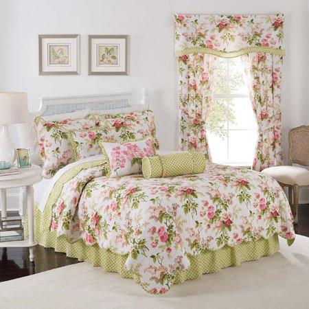 Emma's Garden Blossom King Waverly 4 piece Quilt Set Thumbnail