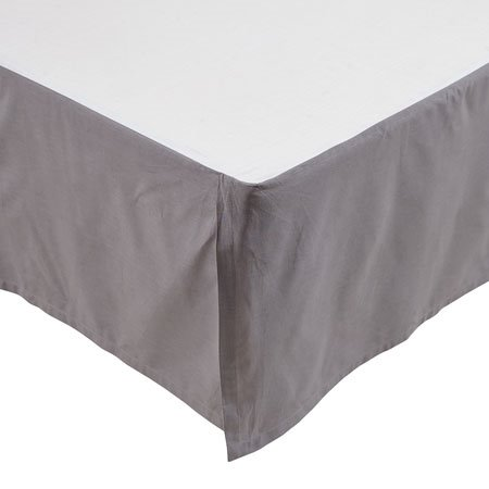 Rochelle Grey Queen Bedskirt Thumbnail