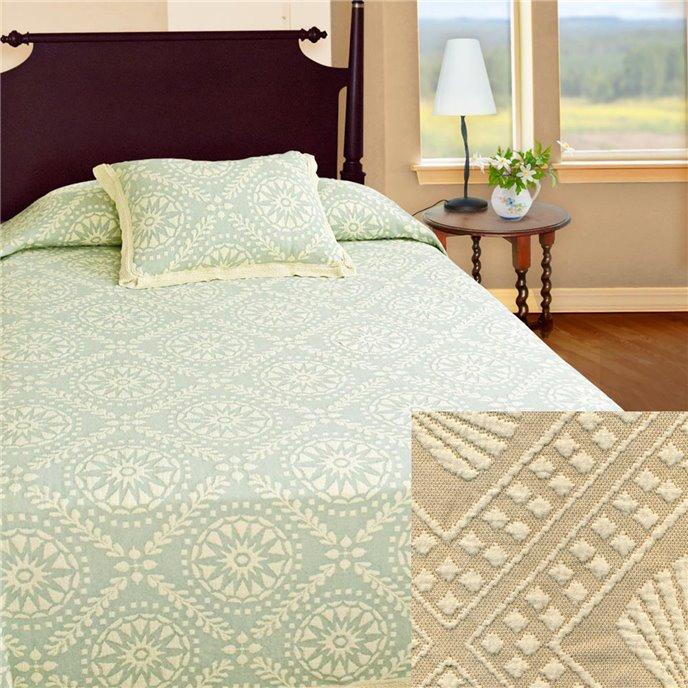 Americana Queen Linen Bedspread Thumbnail