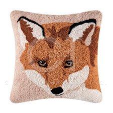 Hillside Haven Hooked Fox Face Pillow Thumbnail
