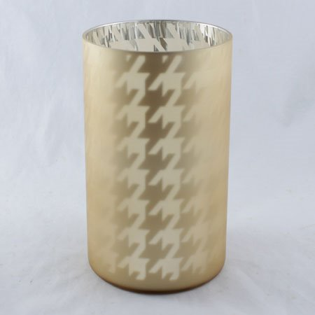 Yankee Candle Flickering Gold Houndstooth Jar Candle Holder Thumbnail