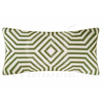 Annabelle Geometric Chain Stitch Pillow Thumbnail