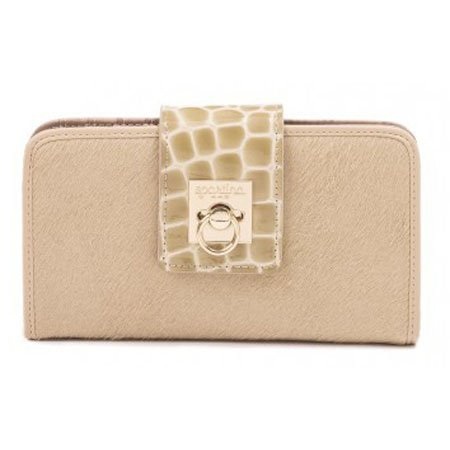 Spartina 449 Croc Flip-Lock Wallet Blonde Thumbnail