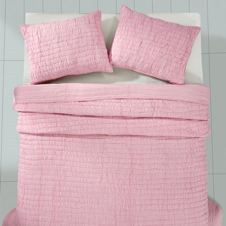 Rochelle Pale Pink 3 Piece Queen Quilt Set Thumbnail