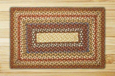 Honey, Vanilla & Ginger Rectangle Braided Rug 8'x10' Thumbnail