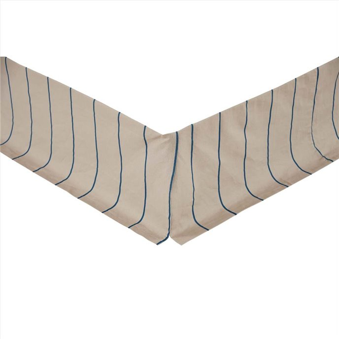 Charlotte Azure Twin Bed Skirt 39x76x16 Thumbnail