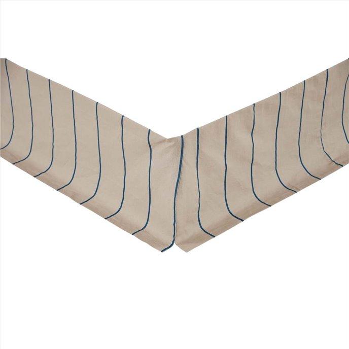 Charlotte Azure King Bed Skirt 78x80x16 Thumbnail