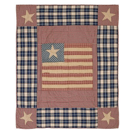 Independence Quilted Throw Thumbnail