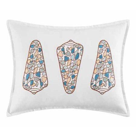 Cabana Bay 3 Shells Embroidered Pillow Thumbnail