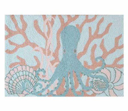 Saltwater Serenity Octopus Washable Rug Thumbnail