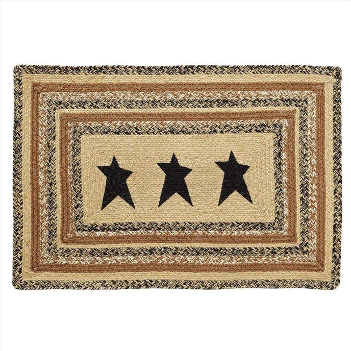 Kettle Grove Jute Rug Rect Stencil Star 24x36 Thumbnail