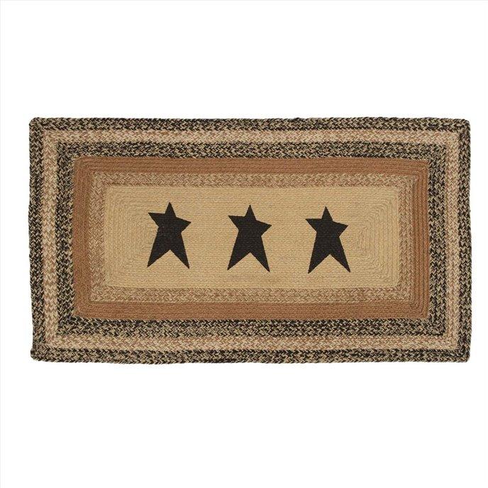 Kettle Grove Jute Rug Rectangular  Stencil Star 27x48 Thumbnail