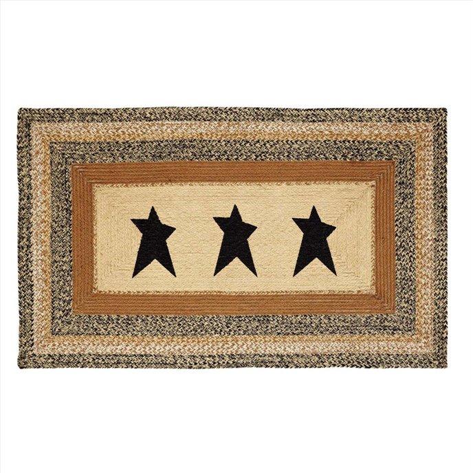 Kettle Grove Jute Rug Rectangular  Stencil Star 36x60 Thumbnail