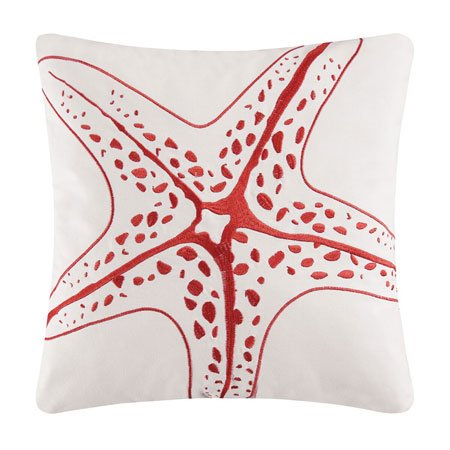 Kalani Embroidered Starfish Pillow Thumbnail