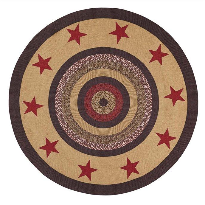 Landon Jute Rug Stencil Stars 6ft Round Thumbnail