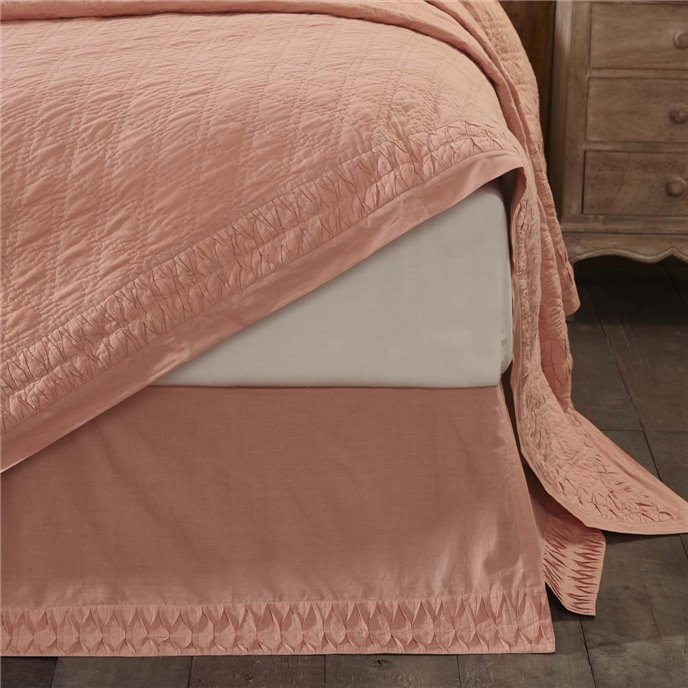 Adelia Apricot Queen Bed Skirt 60x80x16 Thumbnail