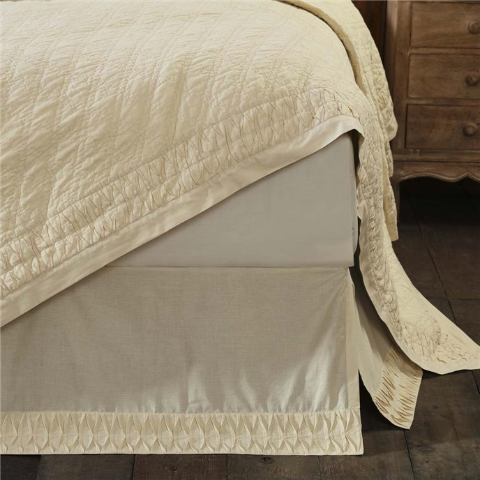 Adelia Creme Queen Bed Skirt 60x80x16 Thumbnail