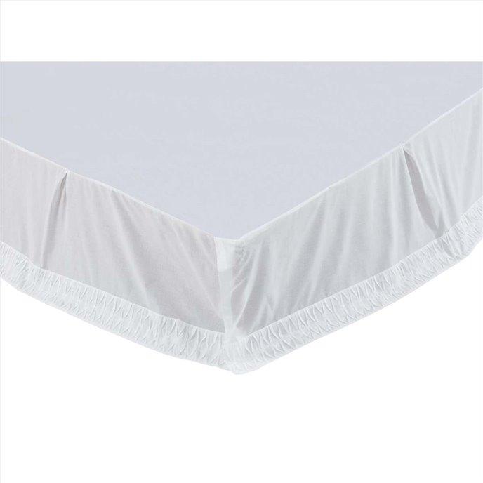 Adelia White King Bed Skirt 78x80x16 Thumbnail
