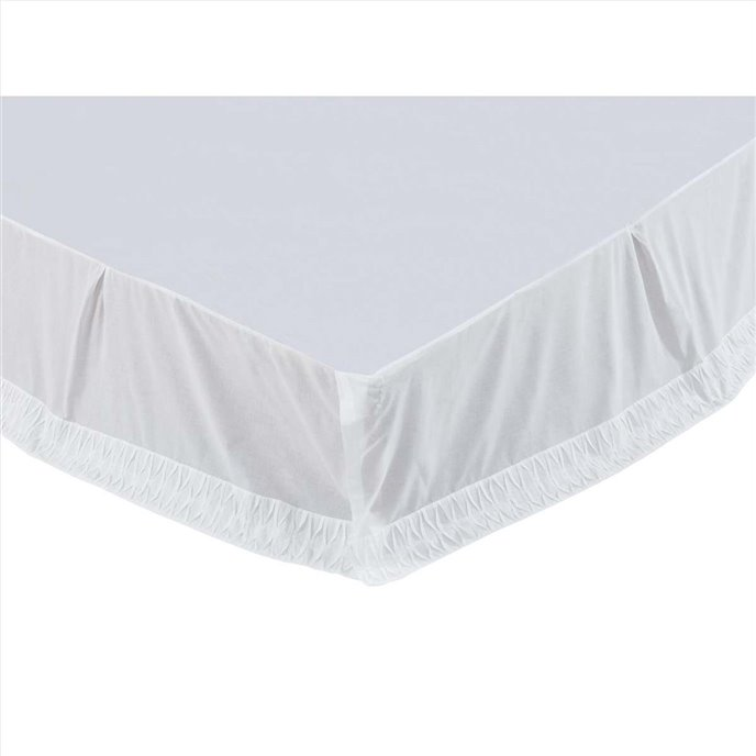 Adelia White Twin Bed Skirt 39x76x16 Thumbnail