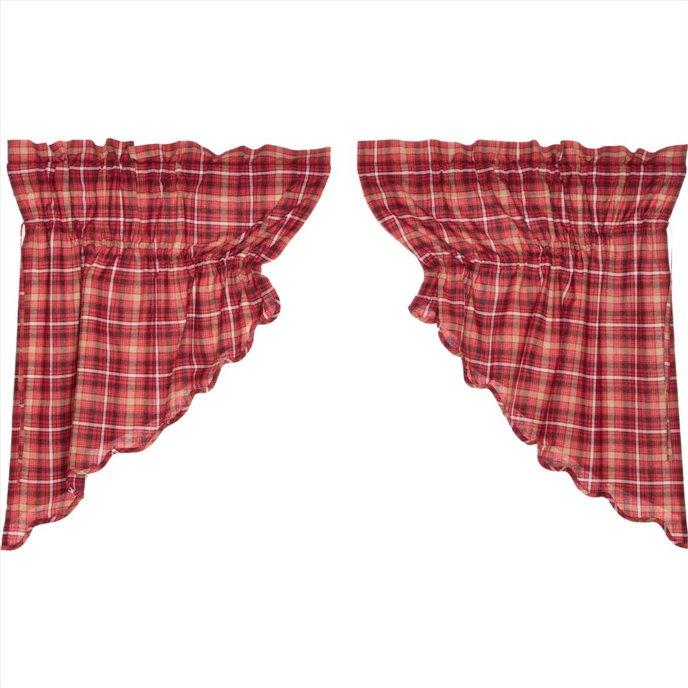 Braxton Scalloped Prairie Swag Set of 2 36x36x18 Thumbnail