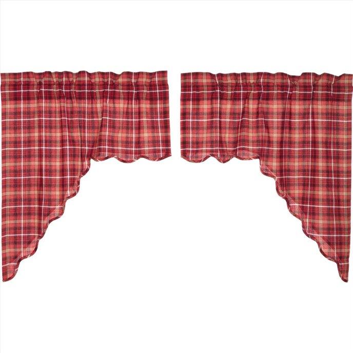 Braxton Scalloped Swag Set of 2 36x36x16 Thumbnail